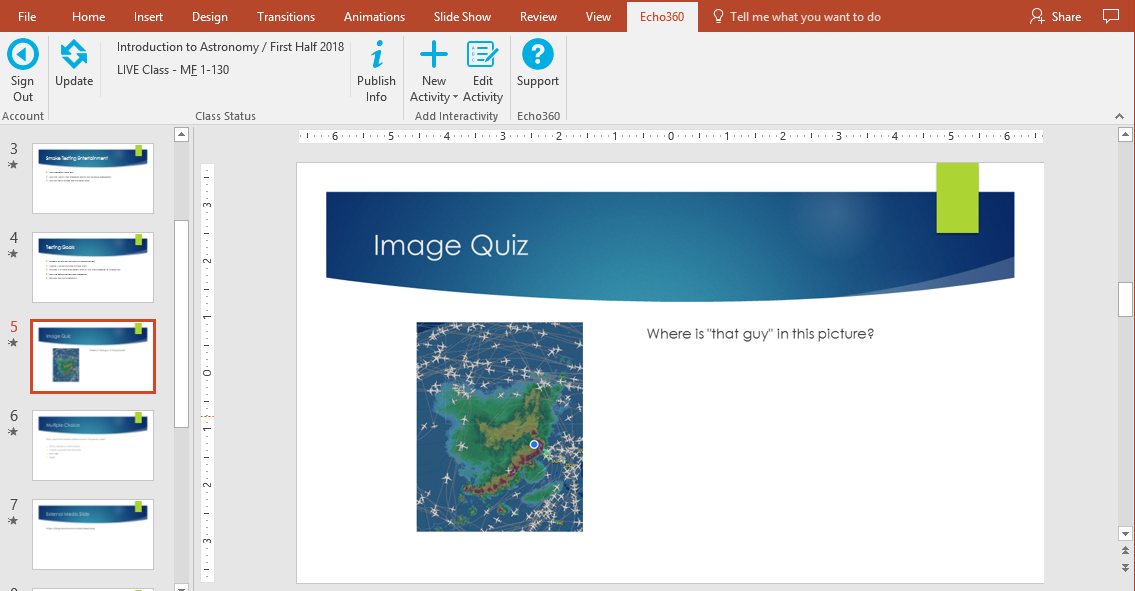 Image activity slide showing in powerpoint as described