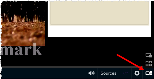 playback bar with media layout button shown
