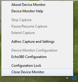 device monitor system tray menu for steps as described
