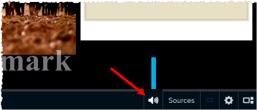 playback bar with volume control button shown
