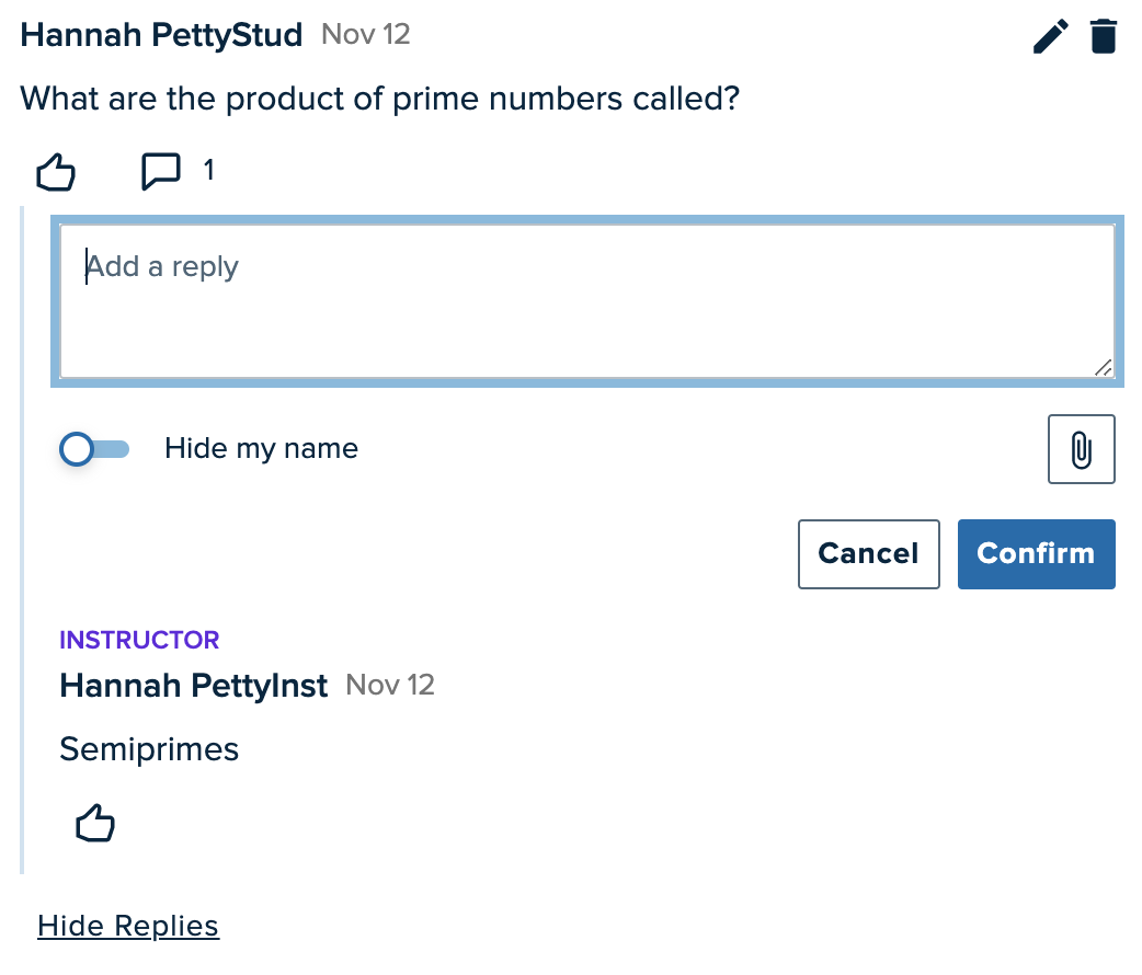 Add Reply field expanded to show reply options